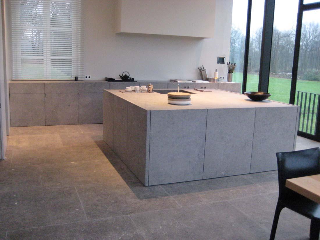Keuken Blauwe Steen : Belgian Blue Stone ?architect: Vincent Van Duysen? ? Graniet